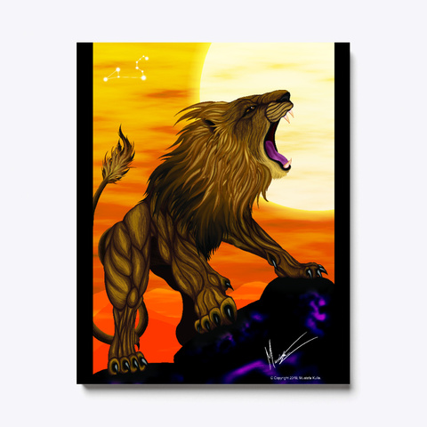 Leo The Lion Black T-Shirt Front