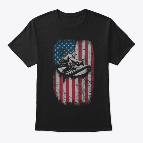 American Roofer Flag T Shirt Black T-Shirt Front