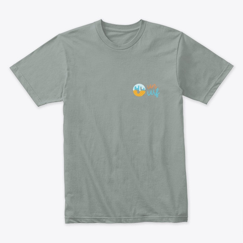 Sun Surf Logo Warm Grey T-Shirt Front