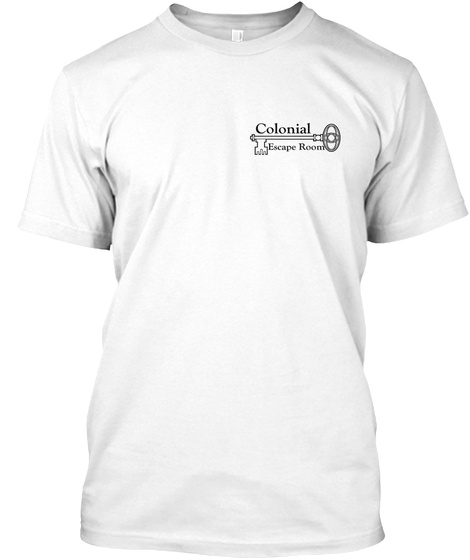 Colonial Escape Room White T-Shirt Front