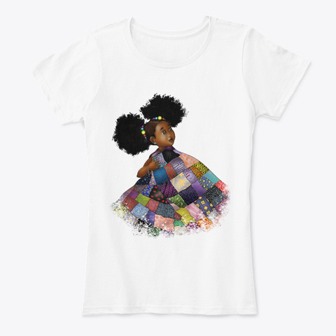 Colorful African Adorable Kid Apparel White T-Shirt Front