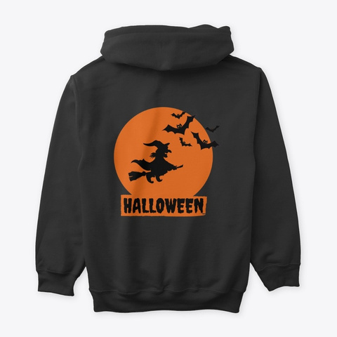 Happy  Halloween Tee Black T-Shirt Back