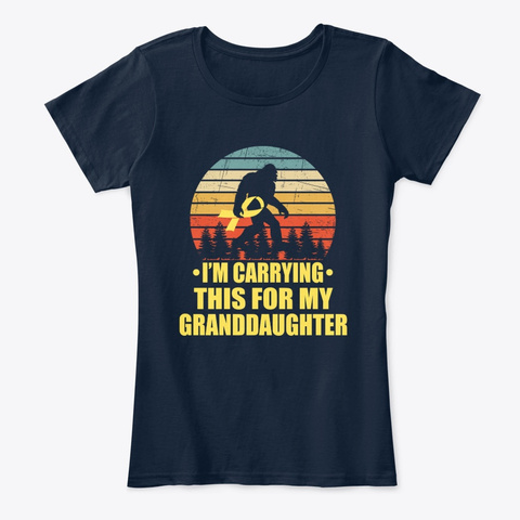 Childhood Cancer For Granddaughter New Navy T-Shirt Front