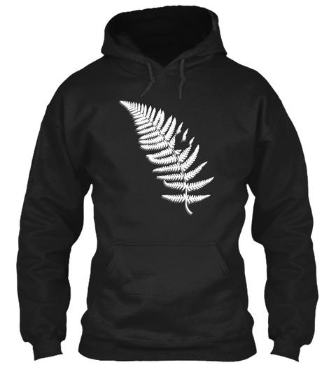 New Zealand   Silver Fern 8 Black T-Shirt Front