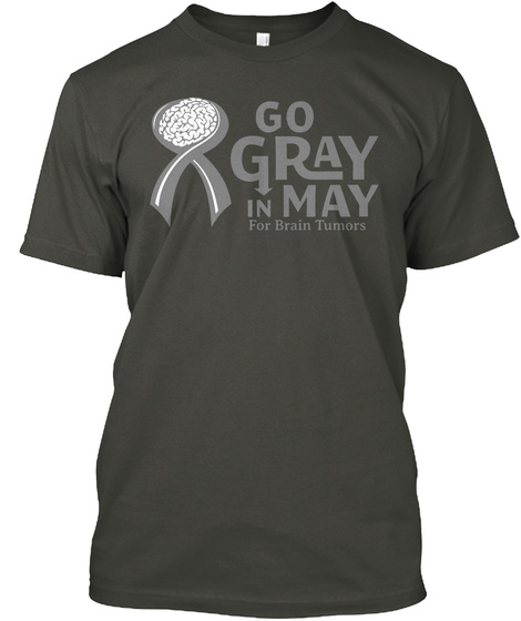 Brain Cancer Awareness T Shirt Smoke Gray T-Shirt Front