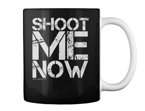 Get Up Gangster Girl Black Mug Back