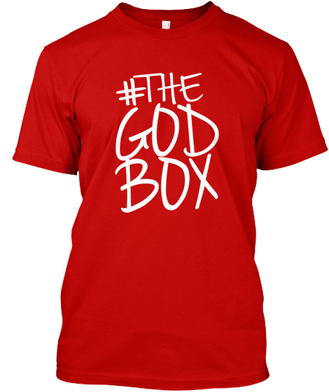 The God Box Classic Red T-Shirt Front