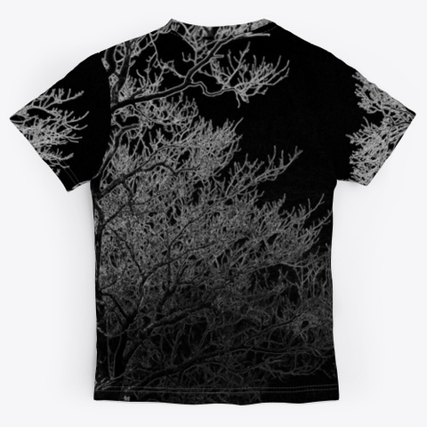 Creepy Branches | Necromancer  Black T-Shirt Back