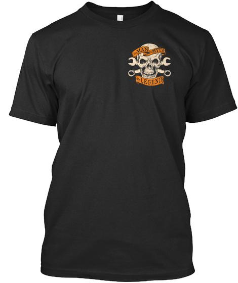The Man Myth The Legend Black T-Shirt Front
