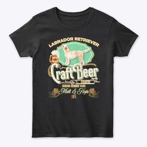Labrador Retriever Copy Gifts Black T-Shirt Front