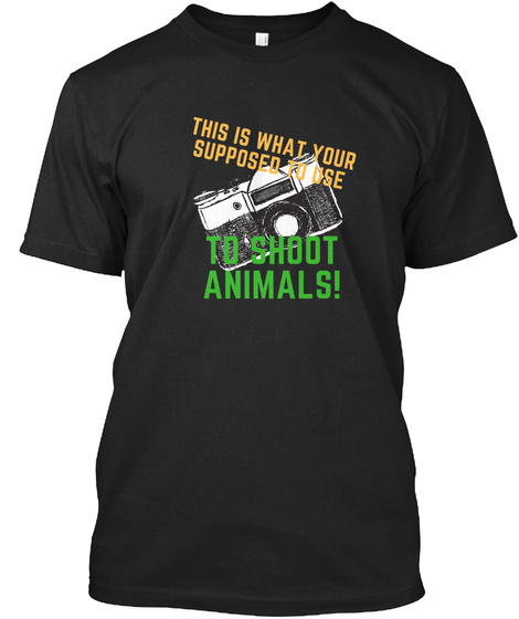 Animals Are Friends Black T-Shirt Front