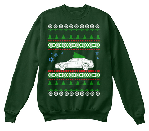 Mazda Rx8 Ugly Christmas Sweater Deep Forest  T-Shirt Front