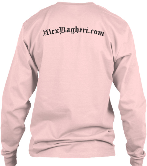 Alexbagheri. Com Light Pink T-Shirt Back