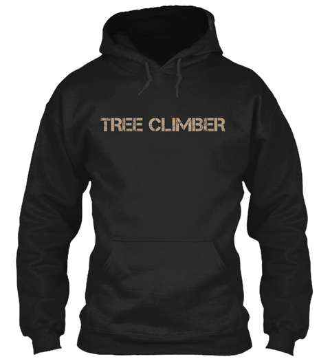 Tree Climber  Black T-Shirt Front