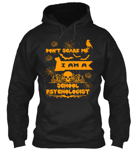 School Psychologist Halloween Shirt Mug Black Sweatshirt Front