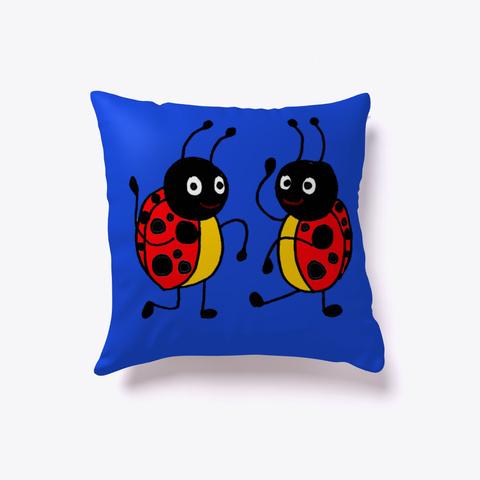 Funny Dancing Ladybugs Art Royal Blue T-Shirt Front