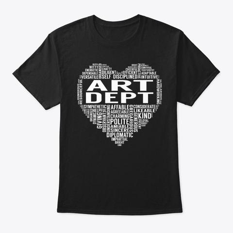Art Dept Heart Black T-Shirt Front