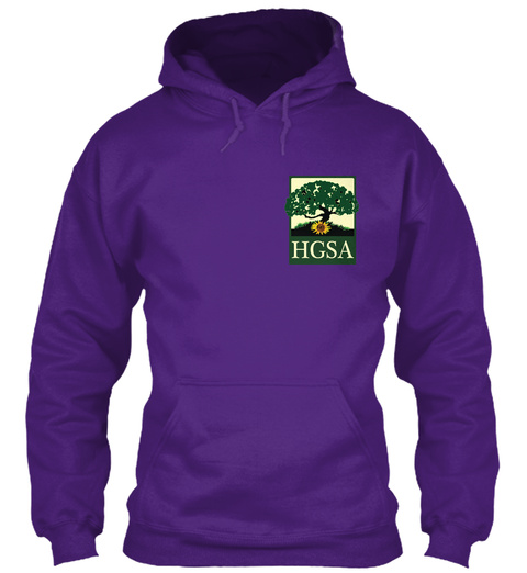 Hgsa Purple Sweatshirt Front
