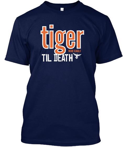 Tiger War Eagle Til Death Navy T-Shirt Front