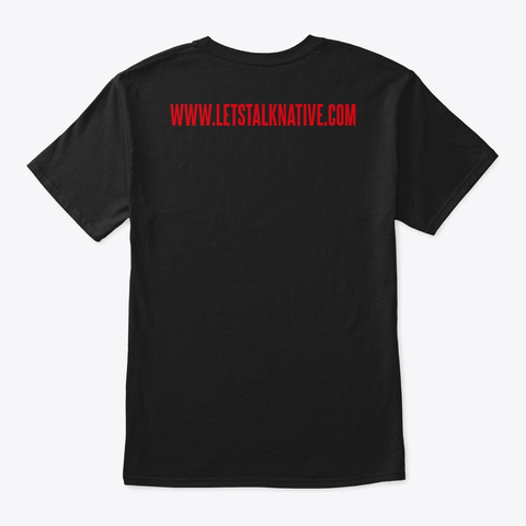 The Red Box Logo Black T-Shirt Back