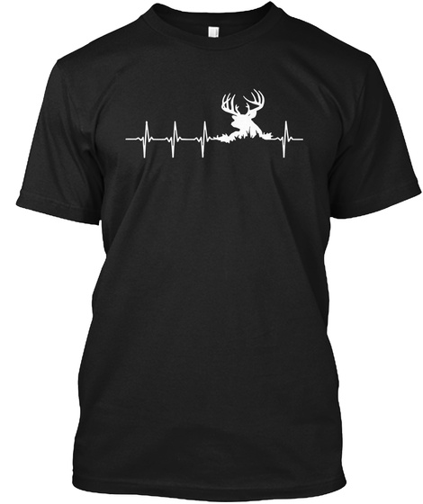 [Relaunch] 99+ Sold   Hunting Deer Black T-Shirt Front