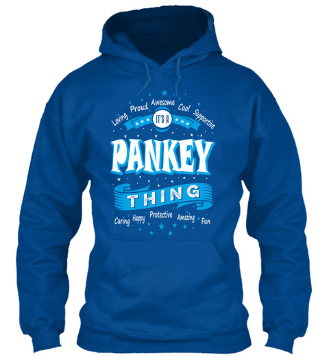 Name Pankey Christmas Weather Royal T-Shirt Front