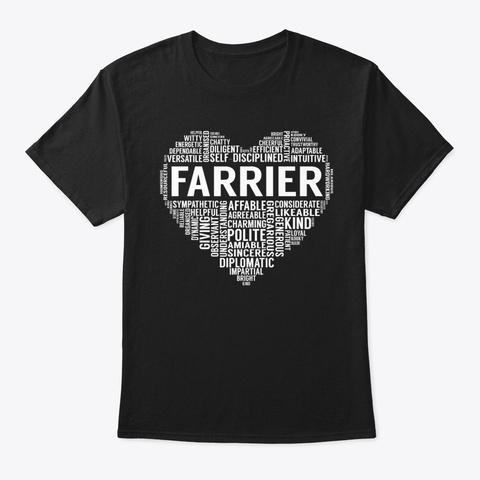Farrier Heart Black T-Shirt Front