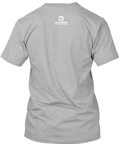 Blogging Athletic Heather T-Shirt Back