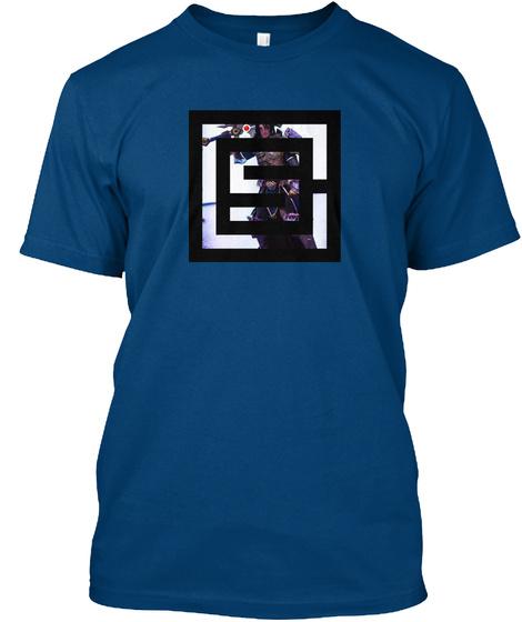 Shepherd Of Men Creations Logo White Cool Blue T-Shirt Front