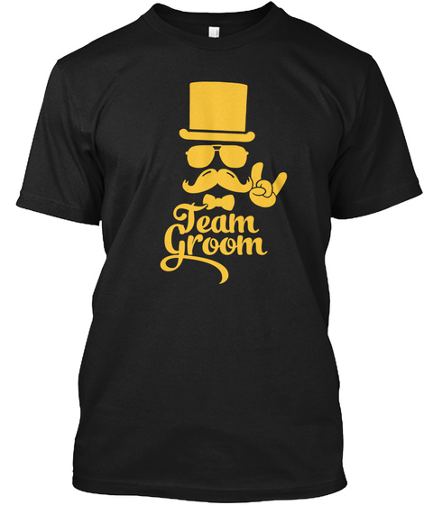 Team Groom Black T-Shirt Front