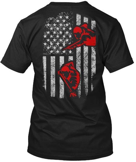 Pool Player Flag T Shirts Hoodies Black T-Shirt Back