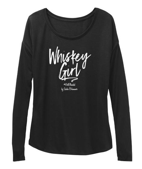Whiskey Girl Black T-Shirt Front