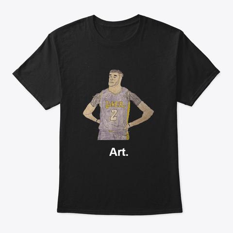Art 3 Black T-Shirt Front