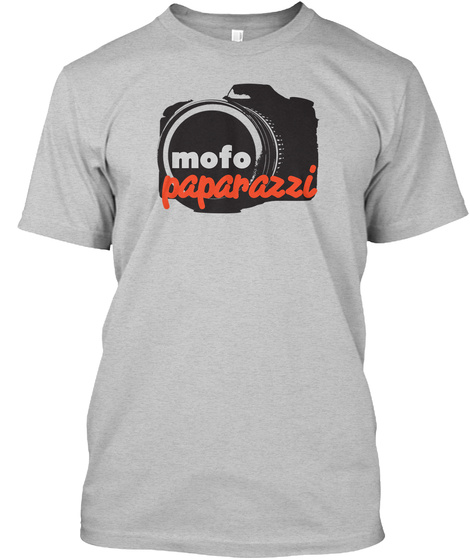 Mofo Paparazzi Light Heather Grey  T-Shirt Front