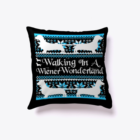 Wiener Wonderland Christmas Decor Black T-Shirt Front