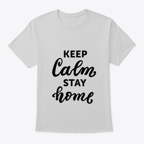 Corona Virus (Covid19) Awareness Merch Light Steel T-Shirt Front