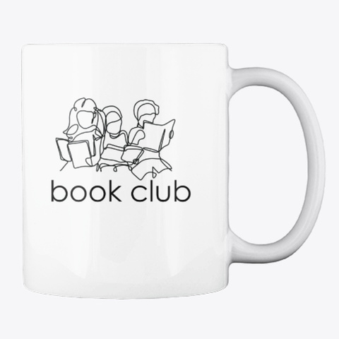 Book Club Friends (Light) White T-Shirt Back