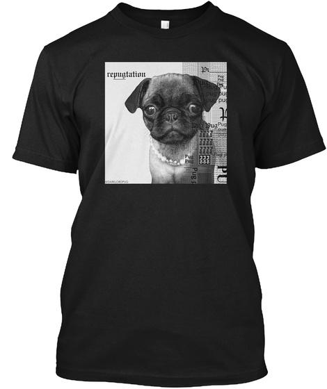 Repugtation Black T-Shirt Front
