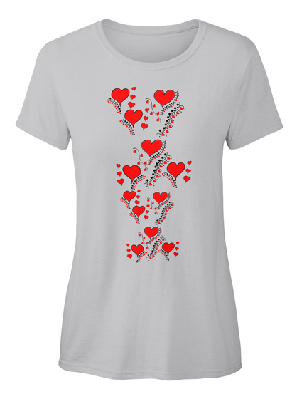 Lovely Heart Ellesson Sport Grey T-Shirt Front
