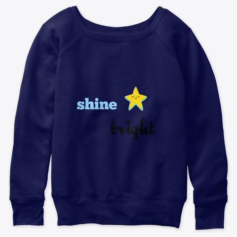 Shine Bright Collection Navy  T-Shirt Front
