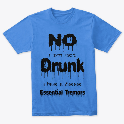 Essential Tremors Vintage Royal T-Shirt Front