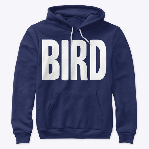 Bird Reverse Navy T-Shirt Front