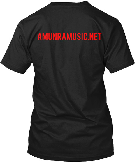 Amunra Music Net Black T-Shirt Back