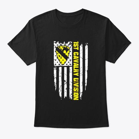 1st Cavalry Division Veteran T Shirt Black T-Shirt Front