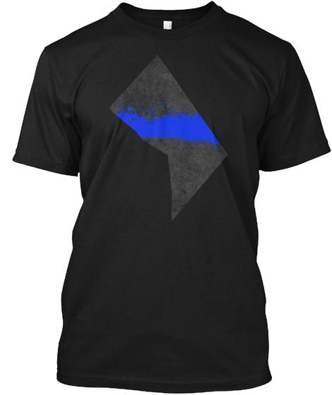 D.C. Blue Line Onyx Black T-Shirt Front