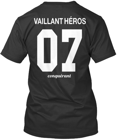 Vaillant Héros 07 Conquéranl Black T-Shirt Back