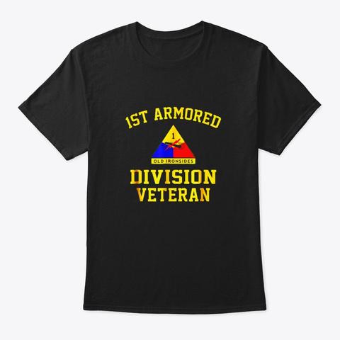 1st Armored Division Veteran Shirt Black T-Shirt Front