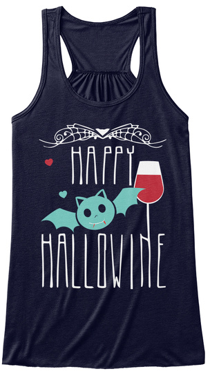 Happy Hallowine Midnight Women's Tank Top Front