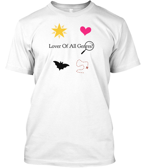 Lover Of All Genres! White T-Shirt Front