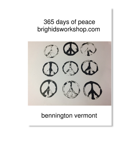 365 Days Of Peace Brighidsworkshop.Com Bennington Vermont White Sticker Front